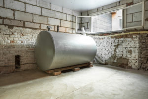 oil tank in house
