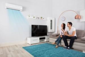 couple using new HVAC system